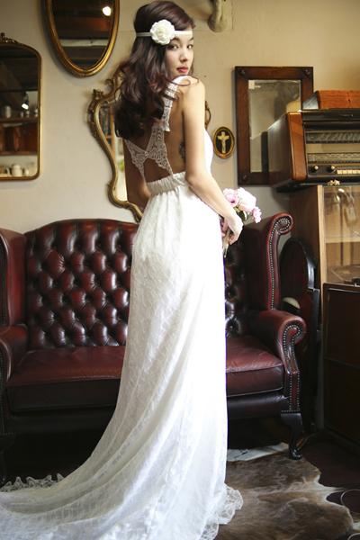 バタフライウエディングドレス