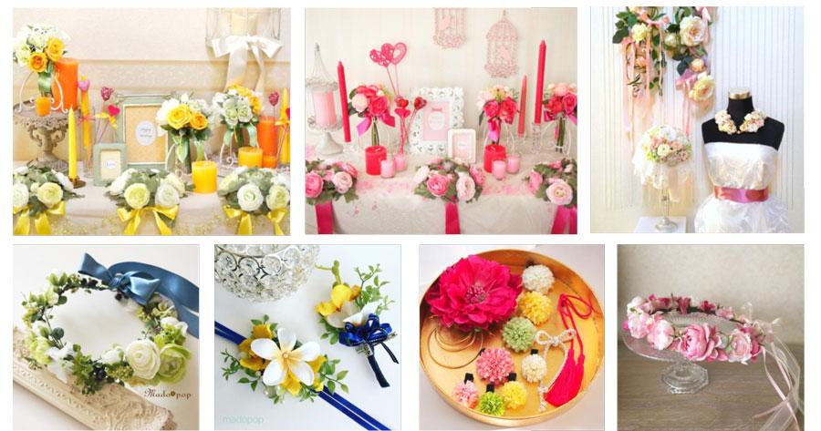 ウエディング装飾小物 彩花